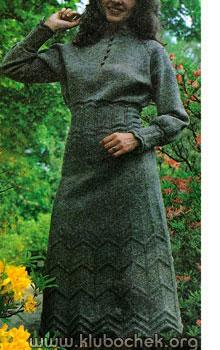 Платье с рукавом реглан - www.klubochek.org